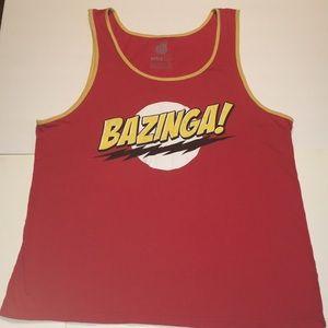 The Big Bang Theory BAZINGA Tank Top L